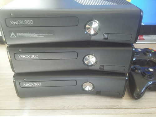 xbox 360 4gb desbloqueado  joga online + 5 jogos