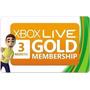 Tarjeta Xbox Live 3 Meses Gold - Entrega Inmediata