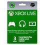 Membresía Xbox Live Gold 3 Meses Código Digital Inmediato