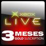 Xbox Live Tarjeta De 3 Meses Membrecia Gold (us / Eu) Nueva