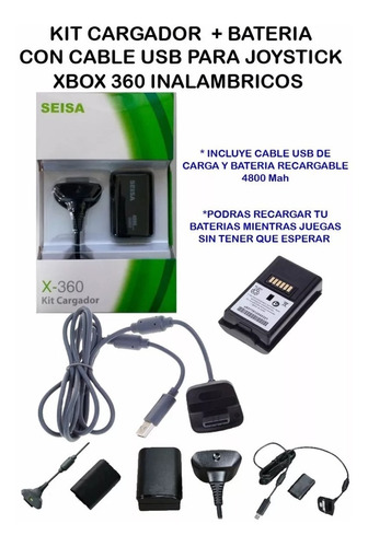 xbox 360 bateria cable