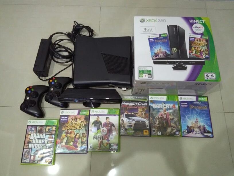 Xbox 360 Con 2 Controles Kinect Y Los Mejores Juegos Bs 1 300 00