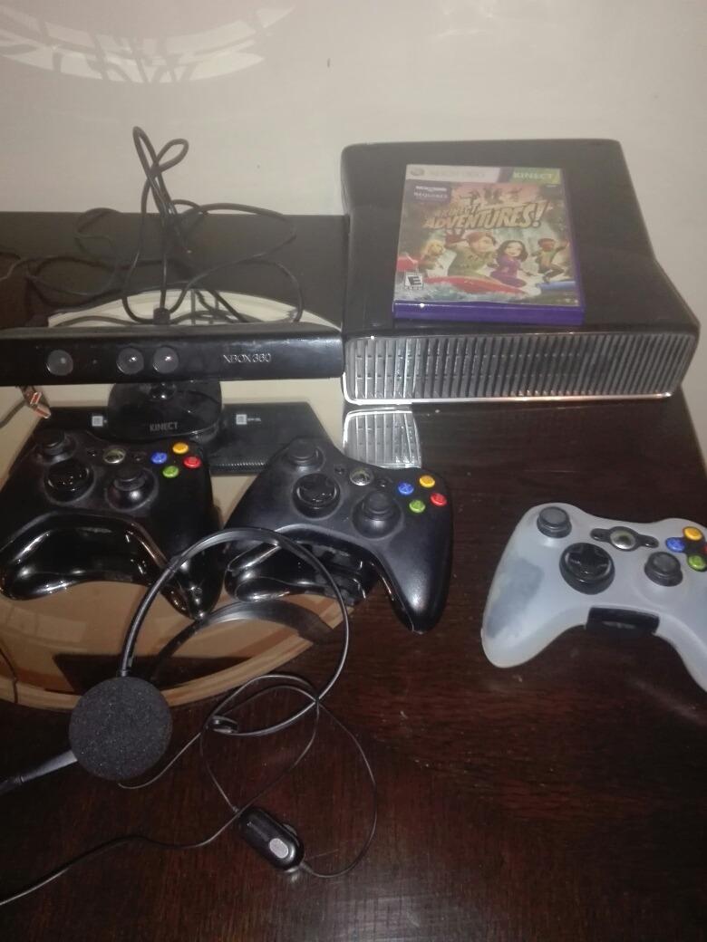 Xbox 360 Rgh Con 3 Mandos Kinect Auricular Y Juegos Digita S