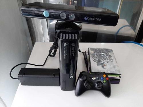xbox 360 con sensor de movimiento + 9 juegos