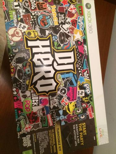 xbox 360 dj hero nuevo sellado + sorpresas