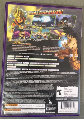 xbox 360 dragon ball