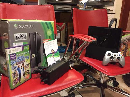 xbox 360 e disco d 250gb diadema kineck juego y envío gratsi