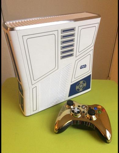 xbox 360 edición star wars con disco de 250 + 35 juegos