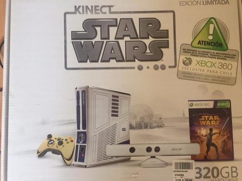 xbox 360 edición star wars + kinect + modern warfare