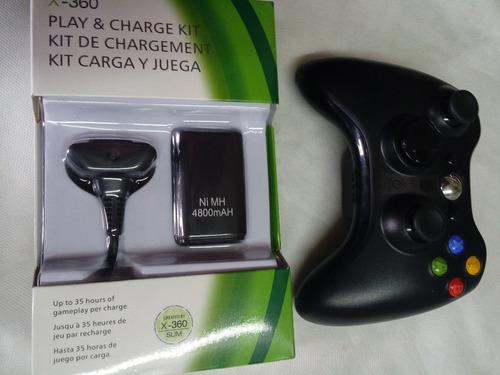 xbox 360 joystick inalámbrico original con batería y cable