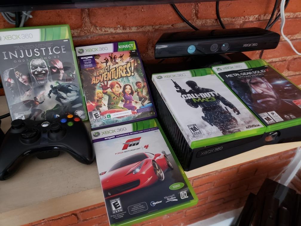 Xbox 360 Kinect 2 Controles 5 Juegos 4 300 00 En Mercado Libre