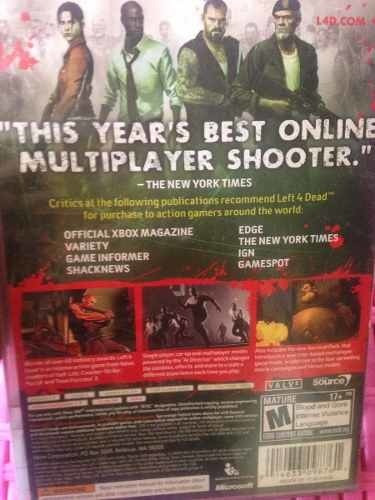 xbox 360 left for 4 dead game of the year compatible one