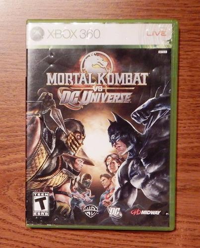 xbox 360 motal kombat vs dc universe videojuego en ingles