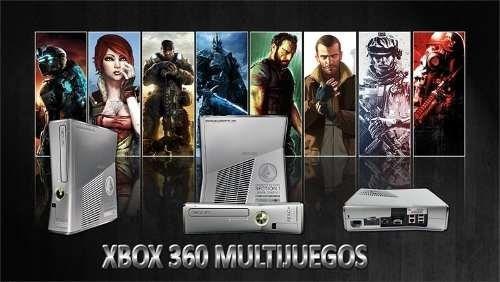 xbox 360 multijuegos, ideal negocio o renta dd500gb