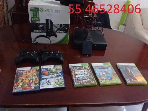 xbox 360 s/500gb/2 controles/70 juegos originales/kinect