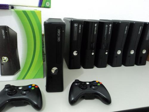 xbox 360 slim + 2 controles + kinect + jogos + frete grátis