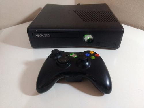 xbox 360 slim 4 gb desbloqueado + 1 controle + 10 jogos