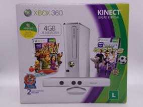 Xbox 360 Slim 4gb Edição Especial Branco Rgh + Hd 320gb