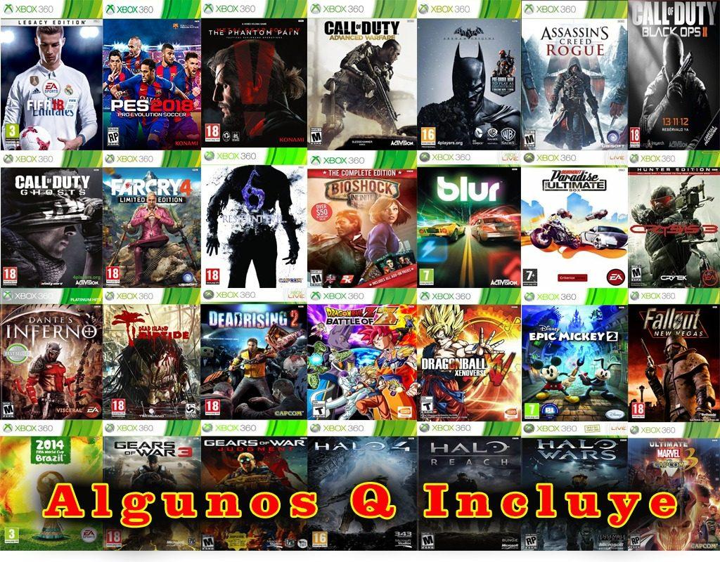 Xbox 360 Slim 500gb 1 Control Con 510 Juegos Integrados 3 300 00