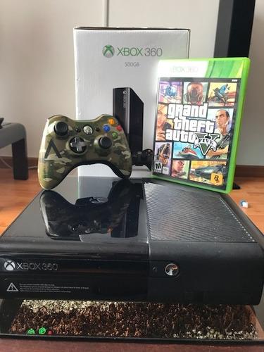 xbox 360 slim e 500 gb  1 juego y control edición especial
