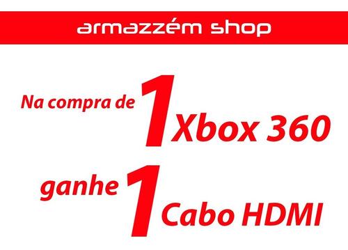 xbox 360 slim + kinect + 1 controles + 3 jogos