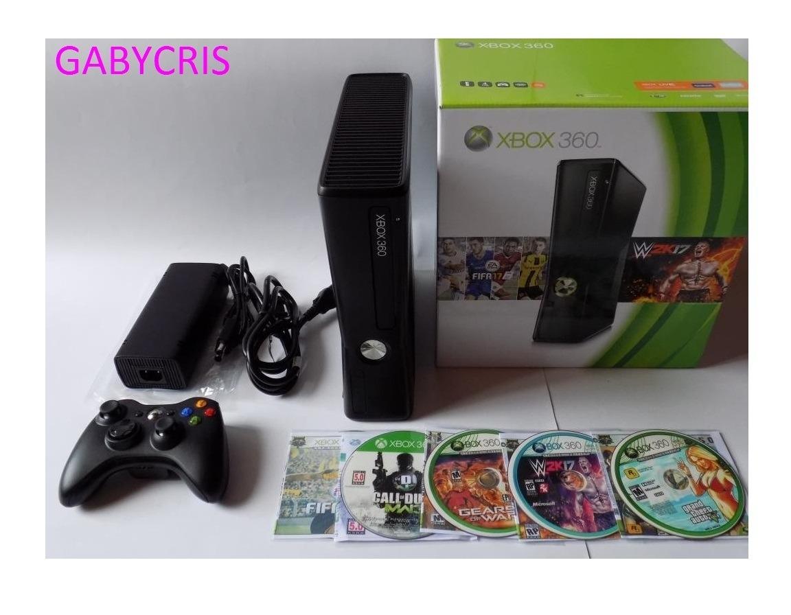 Xbox 360 Slim Control 5 Juegos Caja Garantia 599 900 En