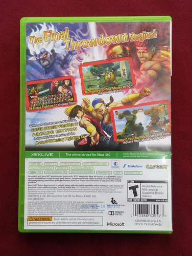 xbox 360 street fighter