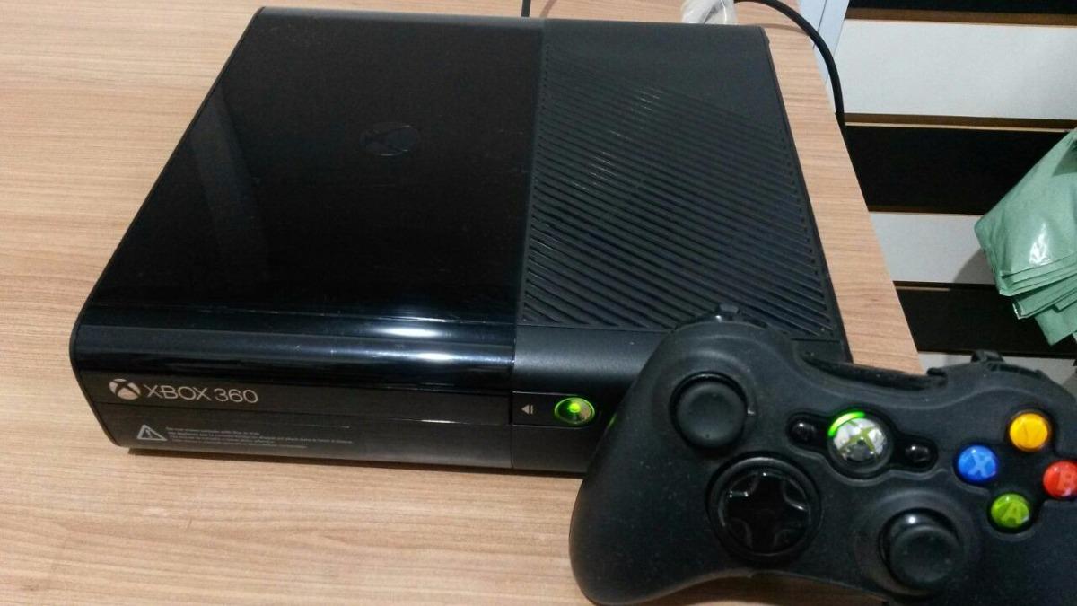 Xbox 360 Super Slim 250gb Joga Online Usado Hdmi 15 Jogos ...