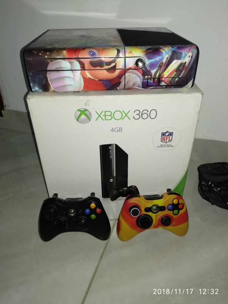 Xbox 360 Super Slim Chip 5 0 Juegos Incorporados Como Nuevo