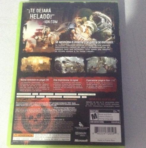 xbox 360. videojuego gears war