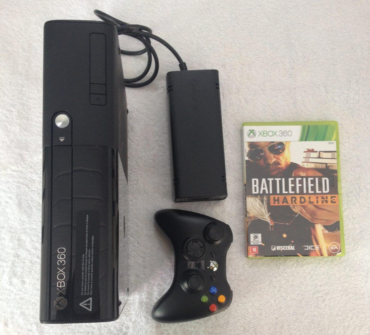 Xbox 360e Console 1538 Controle 1 Jogo Battlefield Hardlin