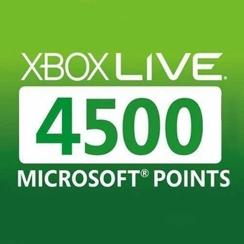 xbox 4500 puntos microsoft points gold live xbox one