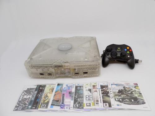 xbox clasico edicion completo 1 control 10 juegos,emulador,