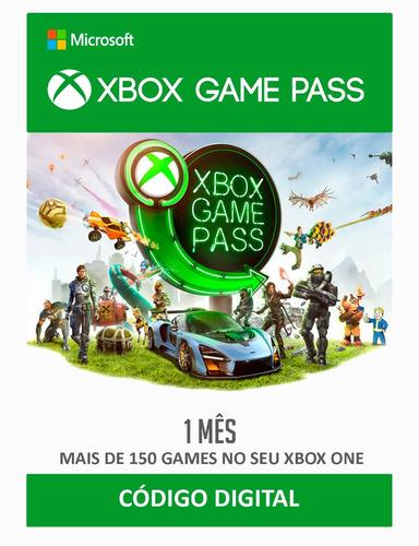 xbox game pass - 1 mês - código digital