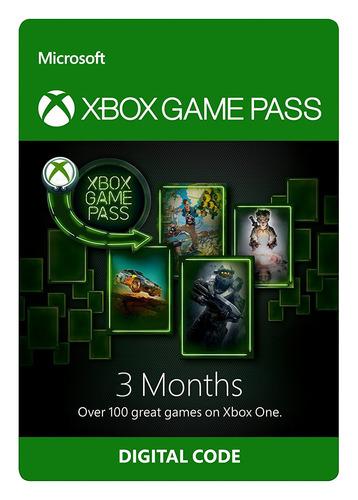 xbox game pass membresía suscripción 3 meses