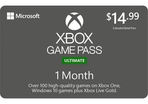 xbox game pass ultimate  30 días