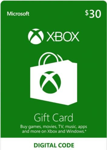 xbox gift card saldo 30 dólares tarjeta digital one 360