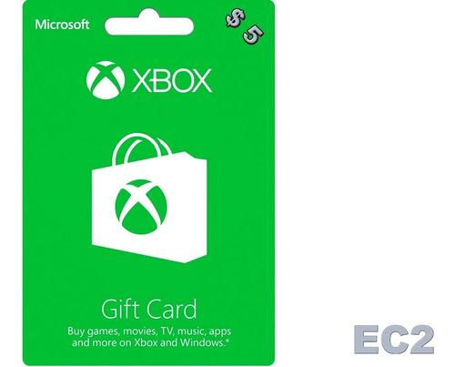 xbox live codigo us $5 ecdos.2