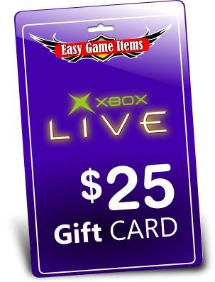 xbox live gift card $25 dolares para cuenta americana