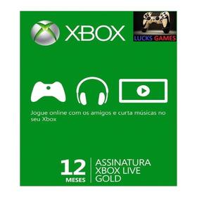 Xbox Live Gold 12 Meses Br Xbox 360 / Xbox One 25 Dígitos
