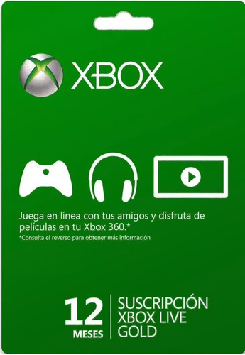 xbox live gold 12 meses codigo digital multiregion