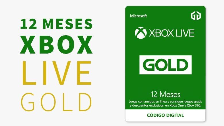 Xbox Live Gold 12 Meses Cuenta Multiregion Entrega Inmediata