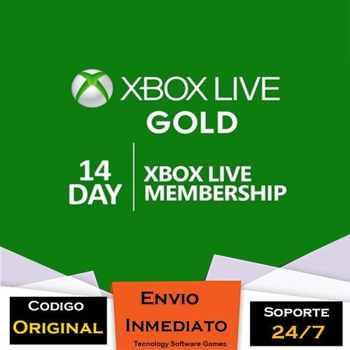 xbox live gold 14 dias codigo membresia multiregion codigo