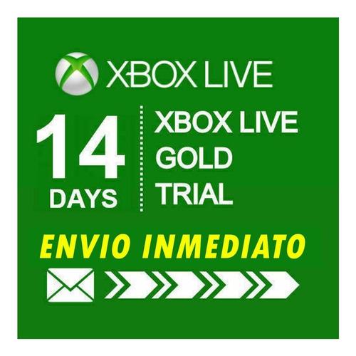 xbox live gold 14 dias membresia mundial prueba region free