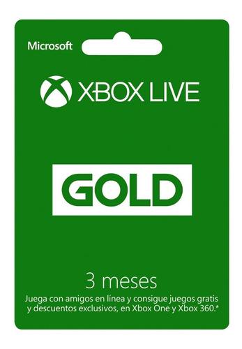 xbox live gold 3 meses colombia código entrega inmediata
