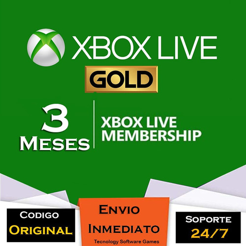 xbox live gold 3 meses global codigo
