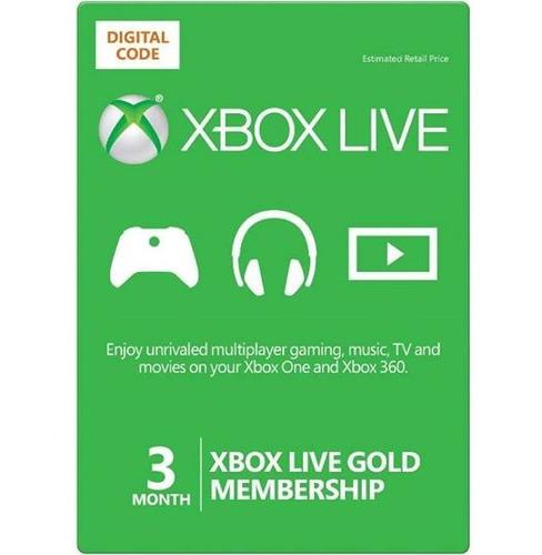 xbox live gold 3 meses multiregion