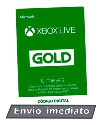 xbox live gold 6 meses - código 25 digitos envio imediato