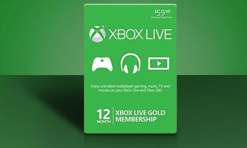 xbox live, tarjeta prepago 12 meses
