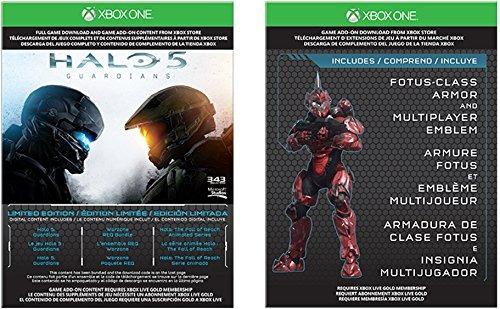 xbox one 1tb console edición limitada halo 5 guardians bundl